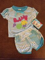 TUFF COOKIES Vintage INFANT Girls Shorts Set Top Outfit 18 Mo NEW