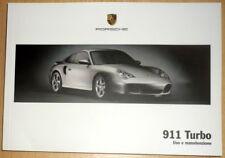 Porsche 911 Turbo (996).Libretto uso manutenzione.Anno 2003