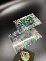2020 Mosaic Green Prizm Flea Flicker Drew Brees Alvin Kamara Michael Thomas X 2