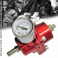 Universal Aluminum Adjustable 1-140 Psi Fuel Pressure Regulator+Gauge+ Hose Red