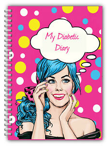 DIABETES BLOOD SUGAR CARBOHYDRATE INSULIN MEDICATION DIARY LOG BOOK 52 PAGE 1