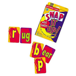 Learning Resources Snap It Up! Phonics & Reading Card Game, Homeschool, Reading