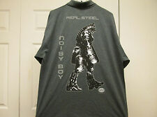 REAL STEEL 2011 FILM CREW MOVIE PROMO XL SHIRT RARE NOISY BOY HUGH JACKMAN