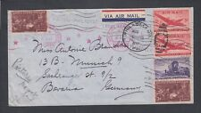 USA 1947 CIVIL CENSORED AIRMAIL COVER PHILADELPHIA PENNSYLVANIA TO GERMANY