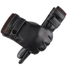 Men Gloves Black Leather Winter Warm Windproof Quality Fashion Business Gloves