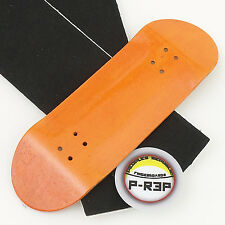 Peoples Republic - 32MM Wooden Fingerboard Deck - Orange Extra Wide