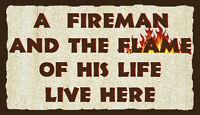 (Fireman)WALL DECOR, DISTRESSED, RUSTIC, PRIMITIVE, HARD WOOD, SIGN, PLAQUE
