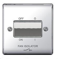 BG Nexus Polished Chrome Fan Isolator Switch 10amp 3 Pole - Npc15