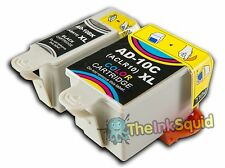 1 Set of Advent 10 XL ABK10+ACL10 Compatible Ink Cartridges for A10 AW10 & AWP10