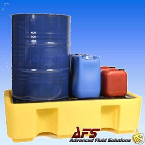 1 x 2 DRUM BUNDED SPILLPALLET OIL CHEMICAL STORAGE BUND
