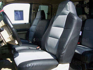 FORD F-650 F-750 2004-2012 IGGEE S.LEATHER CUSTOM FIT SEAT COVER 13COLORS