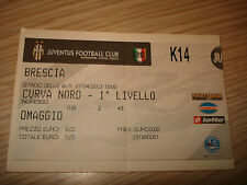 Billet Ticket Série à 2002/2003 Juventus Brescia 27/04/2003 Courbe Nord