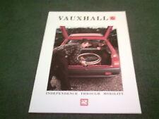 March 1988 Vauxhall DISABLED MOTORISTS 16 PAGE COLOUR BROCHURE Nova Astra Manta