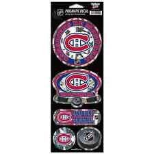 """MONTREAL CANADIENS OFFICIAL 10.5"""" X 4"""" PRISMATIC DECAL SET NEW FREE SHIPPING"""