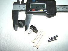 """2x 9/16"""" 14mm 115pin BLACK METAL STILETTO HIGH HEEL SHOE TOPS TIP PIN TUBES KIT"""