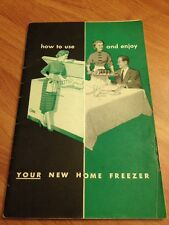 """Vintage 1955 AMC Booklet """"How to Use & Enjoy Your New Home Freezer"""" Green/Black"""