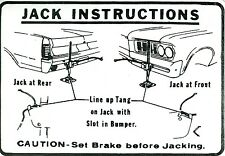 1964  GTO/TEMPEST/LEMANS JACK INSTRUCTION DECAL