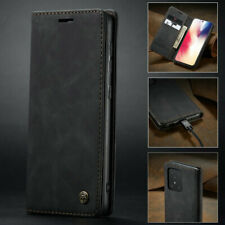 For Samsung S20 Plus Ultra S10 Lite A71 Magnetic Matte Leather Flip Wallet Case