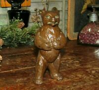 Original Antique Vtg Hubley Angry Mean Standing Bear Cast Iron Still Penny Bank