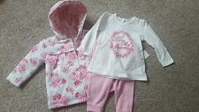 George Baby girl reversable coat jacket top bottoms set outfit 6-9 months