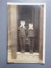 R&L Postcard: British Edwardian Children Boys Real Photo, Clothes Fashion