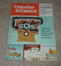 1969 Popular Science Magazine Rotary Engine Case Hospitable Houseboat Gardner