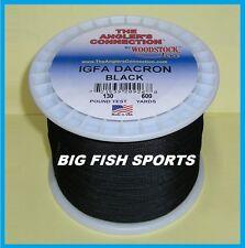 WOODSTOCK BRAIDED IGFA Fishing Line Black Color 130lb-600yd NEW! FREE USA SHIP!