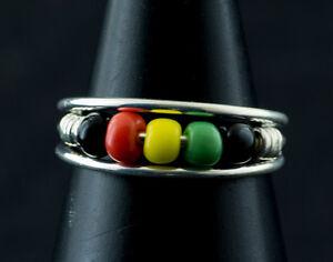 Ring Foot Toe Ethnika Rasta Adjustable Metallic White W88 10129