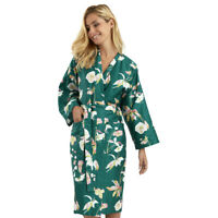 YVES DELORME | MIAMI BATH ROBE PRINTED 100% COTTON SATEEN 300TC 40% OFF RRP