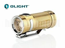 OLIGHT S-Mini BR Cree XM-L2 EDC Cool White CW LED Flashlight Raw Brass