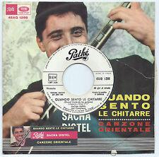 "7"" SACHA DISTEL Quando sento (Pathé 65 ITALY) JB promo sticker Italian unique EX"