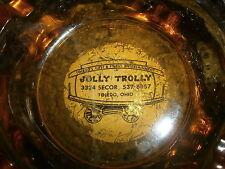 vtg 70s 80s JOLLY TROLLY ASHTRAY Toledo Strip Club Secor TAB Open Closet Glass