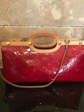 LOUIS VUITTON Patent Red Vernis Leather Bag