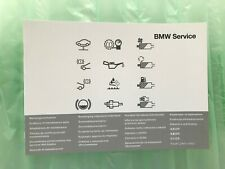 BMW SERVICE BOOK BRAND NEW GENUINE G11 / G12 7 Series 730 740 750 X5 X6 Z4 Z3