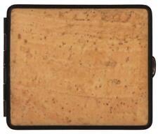 Vom Hofe Cigarette Case 18 King Size Cork / Frame Black/Rubber Band / 2seitig