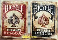 Bicycle Ellusionist Vintage series 1800 Combo RED BLUE Deck Playing Cards Poker