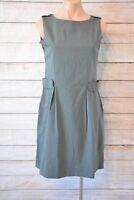 AUSTIN REED Dress Sz Medium 10 12 grey pinstripe shift pencil dress