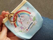 I LOVE UNICORN COIN PURSE GIFT IDEA Keyring Change Card Wallet Headphones Holder