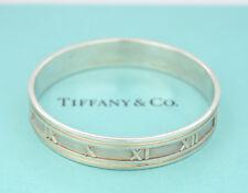 TIFFANY&Co Atlas Wide Cuff Bracelet Silver 925 Bangle w/BOX #936