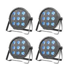 4* LED Par Can Light 9 RGBW 8CH DMX512 DJ Stage Lighting for Wedding Event Party