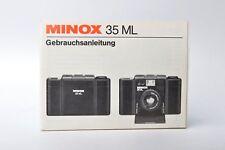 Minox 35 ML Bedienungsanleitung