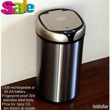 USB RECHARGEABLE STAINLESS INTELLIGENT INFRARED SENSOR AUTOMATIC HYGIENIC BIN