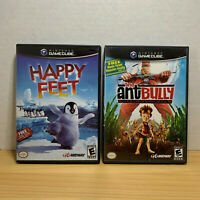 Happy Feet & The Ant Bully (Nintendo GameCube) LOT! COMPLETE! TESTED & CLEANED!