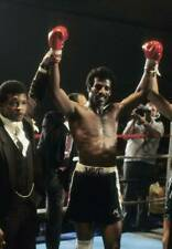 Old Boxing Photo Michael Spinks Celebrates Winning The Fight Against Yaqui Lopez