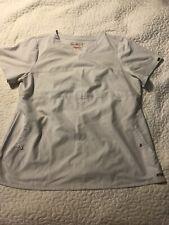 Greys Anatomy Women's Off White Scrub Top Shirt Size 2xl Xxl Short Sleeve