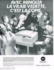PUBLICITE ADVERTISING 065  1982  MINOLTA   la photocopieuse