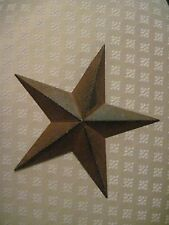"8"" Rustic Black Barn Star Metal Primitive"