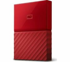 WD My Passport Portable Hard Drive - 2 TB, Red