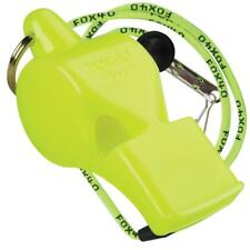NEON YELLOW Fox 40 PEARL Whistle Official Coach Safety Alert Rescue W/ LANYARD