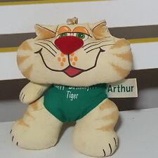 RUSS BERRIE ARTHUR HAPPY BITHDAY TIGER CAT TOY BEANIE TOY OLD ORIGINAL! 19CM